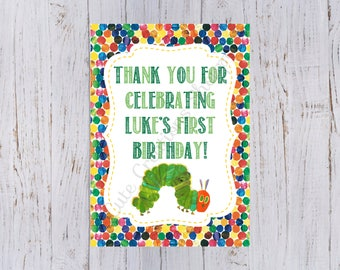 Very Hungry Caterpillar Birthday Party Personalized Print