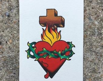 Traditional Sacred Heart Print