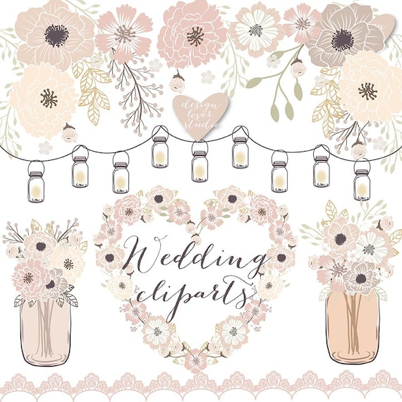 premium vector rustic wedding clipart cage shabby chic rh etsy com shabby chic flowers clip art free shabby chic floral clip art
