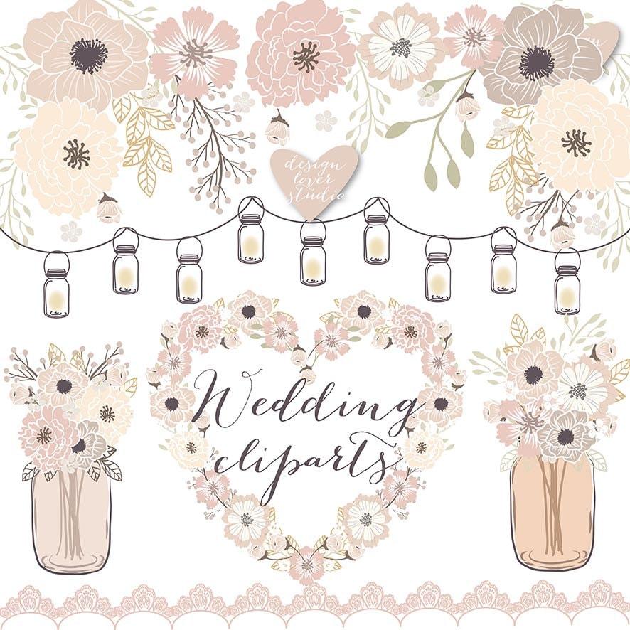 premium vector rustic wedding clipart cage shabby chic rh etsy com rustic wedding clip art free rustic wedding clipart free download