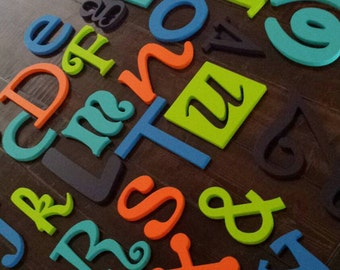 Wood Letters- Wood Wall Decor- Nursery Decor- Baby Room-Playroom- Kids Room- Classroom- Alphabet Letters- Wooden Alphabet