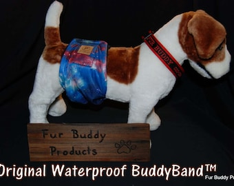 """Original """"NO-Pee"""" Waterproof  BuddyBand Diaper with Pul and Zorb..All Sizes"""