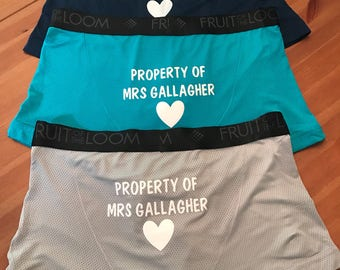 3 pack of personalized husband underwear!