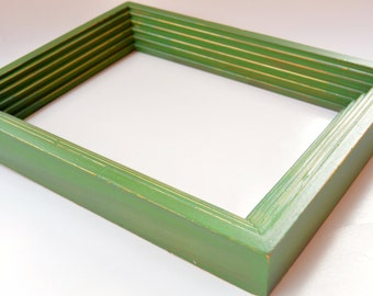 Green Frame Dry Erase Board, White Board, Repurposed and Hand Painted Frame, Wedding Sign, Home Decor, Office Decor, Gift, Photo Prop