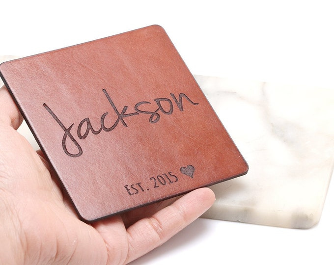 Leather Anniversary Gift for Him, Coasters, Leather Anniversary Gifts for Him, Third Anniversary, Leather Anniversary, 3rd Anniversary Him