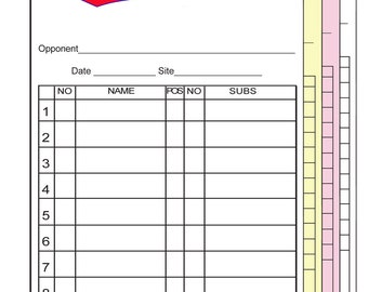 Baseball Softball Line-Up Cards with LOGO Customized - 4 part-30 Sets