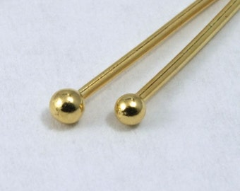 Bright Gold 2 inch Head Pin with Ball  HPA016