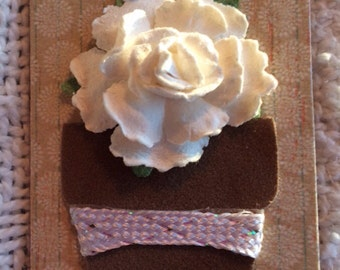 Altered Magnet Paper Flower Friendship Gift Home Decor