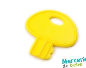 Yellow decorative element - shaped key - C16 - J5