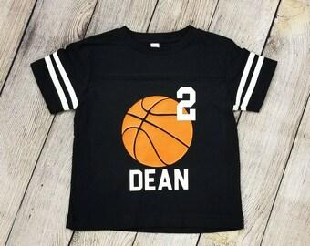Kid's Peronalized Birthday Shirt | Kid's Basketball Theme Birthday | Basketball Birthday Shirt | Custom Birthday Shirt | Birthday Jersey