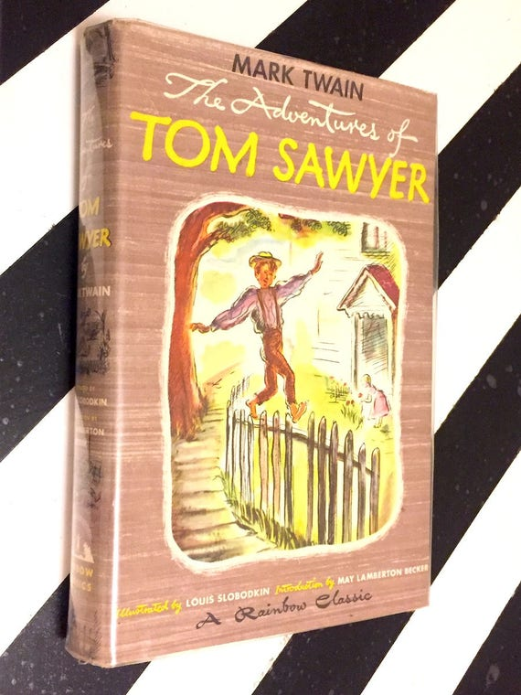 The Adventures of Tom Sawyer by Mark Twain (1946) hardcover book