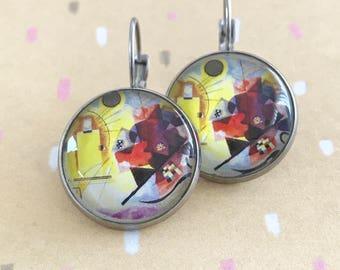 Abstract Art, Earrings, Kandinsky, Wassily Kandinsky, Colorful Earrings, Colourful Earrings, Statement Earrings, Wearable Art, Art Jewelry
