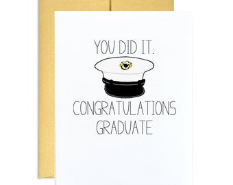 Marine corps graduation card you did it congratulations graduate marine grad congrats greeting card gold army military graduation