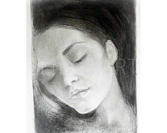 Peacefull dreamer- Original graphite ART - Signed