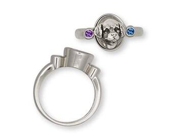 Golden Retriever Ring Jewelry Sterling Silver Handmade Dog Ring GR31-SR
