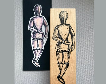Large or small Manikin Rubber Stamp