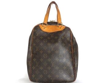 Authentic LOUIS VUITTON Monogram Canvas Leather Excursion Handbag Bag Purse