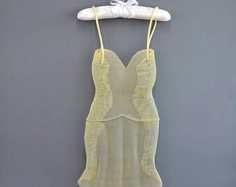 Dress wall decor, 3d wall art, Contemporary art, wedding dress sculpture, abstract art, yellow dress, home decor, Yellow Nightgown