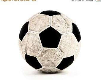 FLASH SALE til MIDNIGHT Vintage Soccer Ball on White Photo Print, Boys Room, Wall Decor, Wall Art,  Man Cave,Boys Nursery Ideas, Gift Ideas,