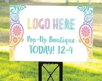 """Pop-Up Boutique Yard Sign - Pop Up Lula Yard Sign - Open House Yard Sign - Lawn Pop Up SignFashion Consultant Yard Sign (27"""" x 18"""") White"""