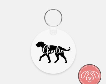 Personalized Irish Wolfhound Dog Keychain