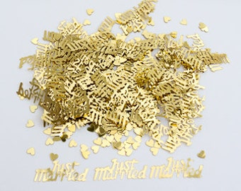Gold Just Married - Wedding Table Confetti