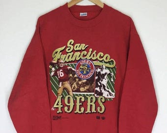 MEGA SALE 20% Rare! Vintage 90s San Francisco 49ers Sweatshirt Size L Made in Usa
