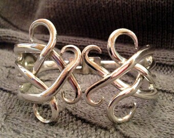 Double Fork Cuff Bracelet