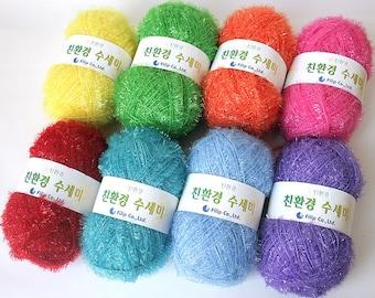Korean Eco Friendly Scrubber Yarn,Scrubbies Yarn, 100% Polyester, 2.7oz(80g)