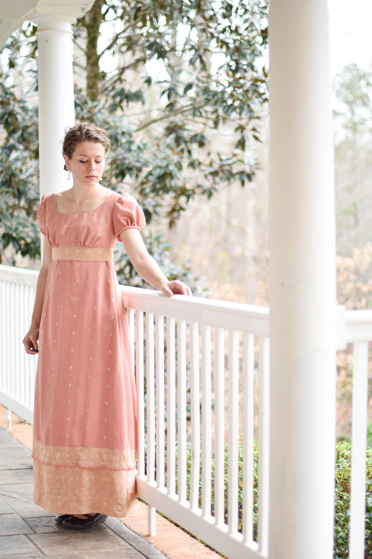 Jane Austen-Kleid stolz und Vorurteil-Kostüm Jahrgang Saree