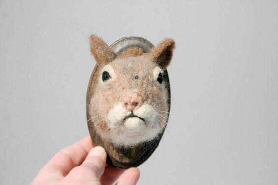 Wool Faux Taxidermy Squirrel (Sciuridae)