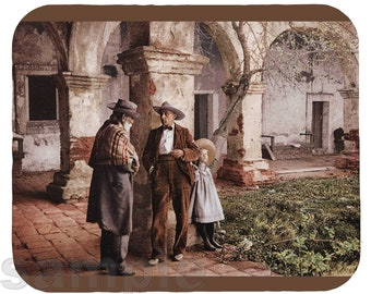 Mouse Pad; San Juan Capistrano Mission Old Caretaker At Mission San Juan Capistrano, A Photochrom 1900