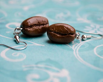 Coffee Bean Charm Earrings