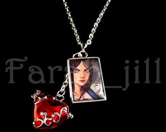 Alice: Madness Returns American McGee's Alice - photo w/ locket necklace pendant Jewelry