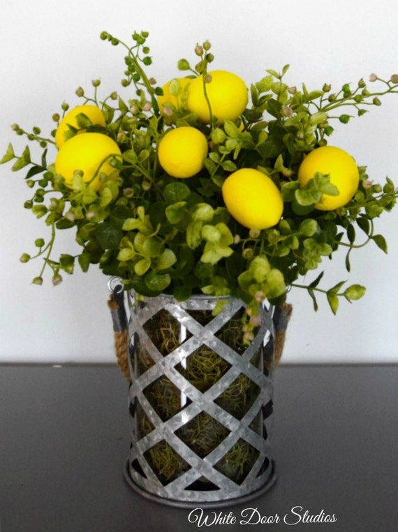 Lemons and Greenery Arrangement