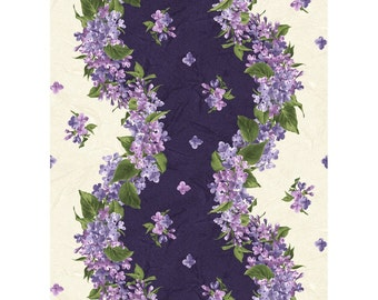 ON SALE 1/2  Yard Maywood Studios Fresh Lilacs 8601-V