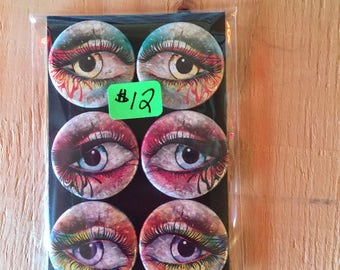 "1.25"" Button Magnets - Floral Eyes"