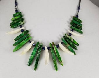 Wild Thing Jasper and Gang spike necklace