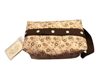 Chocolate Cherry Blossoms Project Bag Boxy Bag