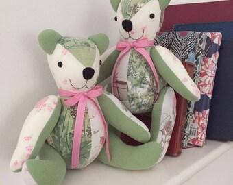 Handmade keepsake memory teddy bear - large