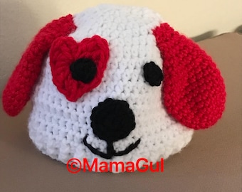 Lovable Puppy beanie hat