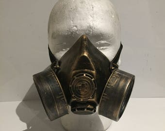 Steampunk Respirator Gas Mask, With Post Apocalyptic Survival Design, Mad Max, Burning Man, Wasteland Style