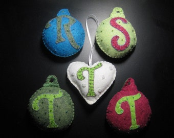 Personalized Felt Christmas Ornament