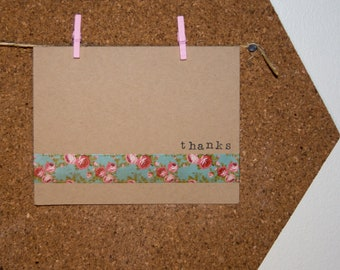 thanks - handmade greeting card