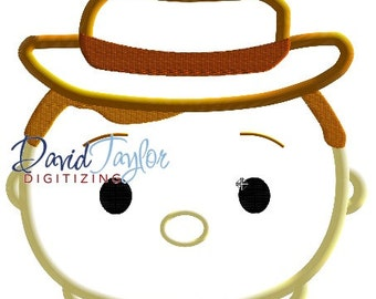 Tsum Tsum Woody - Embroidery Machine Design - Applique - 3 sizes - Instant Download - David Taylor Digitizing