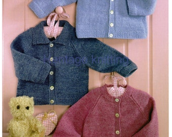 baby boys girls cardigans 4 ply knitting pattern 99p pdf
