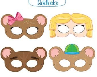 Goldilocks And The Three Bears Printable Masks Goldilocks