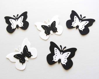 Layered Paper Butterflies, wedding butterflies, garden party, bridal shower decor, fairy party, large and medium butterflies