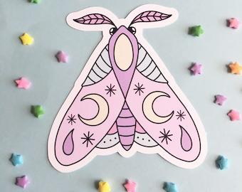 Pastel Moth Sticker