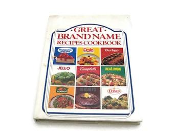 Great Brand Name Recipes Cookbook  Vintage Cookbook  Paper Ephemera Vintage Recipes 1980's Cookbook Vintage Recipes